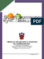Balance Nitrogenado y Sindrome de Realimentacion