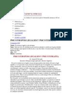 Psicotropos Legales y Psicoterapia