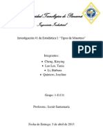 ~Informe de Estadistica # 1