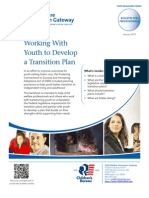 Working with Youth to Develop a Transition Plan