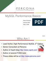 MySQL Performance Basics - BeCamp 2008