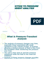 Introduction to Pressure Transient Analysis
