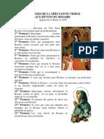 PROMESSES DE LA TRÈS SAINTE VIERGE