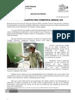 01/04/11 Germán Tenorio Vasconcelos necesario Acciones Conjuntas Para Combatir El Dengue Sso