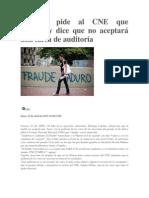 Capriles pide al CNE que cumpla y dice que no aceptará una farsa de auditoría.docx