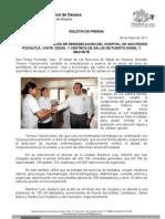 04/05/11 Germán Tenorio Vasconcelos supervisa Gtv Hospital de Pochutla, Cessa y Centros de Salud de Puerto Angel y Mazunte_0