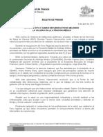 8/04/11 Germán Tenorio Vasconcelos EXHORTÓ GTV A SUMAR ESFUERZOS PARA MEJORAR LA CALIDAD EN LA ATENCIÓN