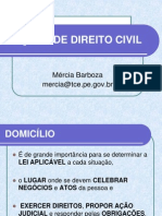 AULA 3 DE DIREITO CIVIL - DOMICÍLIO