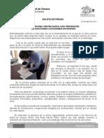 25/04/11 Germán Tenorio Vasconcelos PROPORCIONA CENTRO NUEVA VIDA PREVENCIÓN DE ADICCIONES CON ANTIDOPING