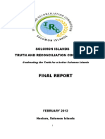 Final Volume 1-Truth and Reconciliation Commission in the Solomon Islands.