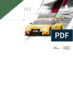 Audi Sport DTM Booklet (English, 2011)