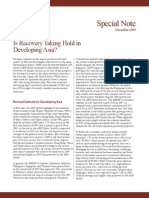 Asian Development Outlook 2009 Special Note - December 2009