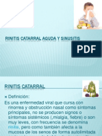 Rinitis Catarral Aguda y Sinusitis