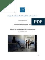Balance de Salud Año 2012 en Venezuela