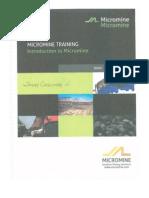 Micromine Training v 12.0 2010