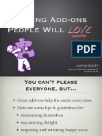 Making Add-ons People Will Love