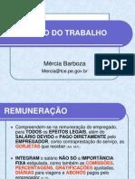 5ª AULA - REMUNERAÇÃO, SALÁRIO MÍNIMO