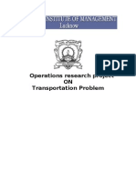 Operation research Project Transportation