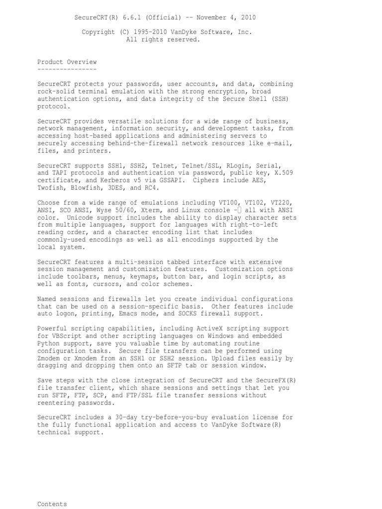 Securecrt Readme   File Transfer Protocol   Scripting Language