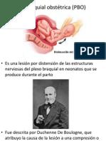 Plexopatía braquial obstetrica