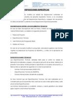 DISPOSICIONES ESPECIFICAS