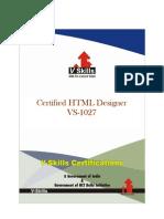 Certified HTML Designer