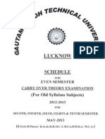Www.uptu.Ac.in Examination PDF Schedule Old 4may13