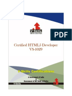 Certified HTML5 Developer