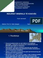 Punim Seminarik - Ekonomia e Resurseve të Kosovës
