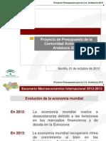 Presupuestos 2013 Andalucia