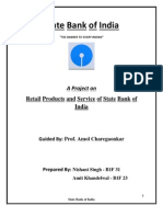Retail Products and Services of State Bank of India