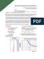Normal Distribution Tolerance Sample Size Calculator.xls