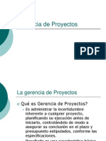 GP-1 - La Gerencia de Proyectos