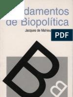 Jacques de Mahieu-Fundamentos de biopolítica  -Centro Editor Argentino (1968)