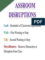 Classroom Disruptions Poster