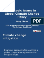 Strategic Issues in Global Climate Change Policy Harry Clarke
