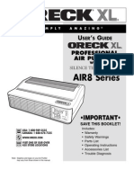 Oreck XL Professional Air Purifier w/ Silence Technology Manual