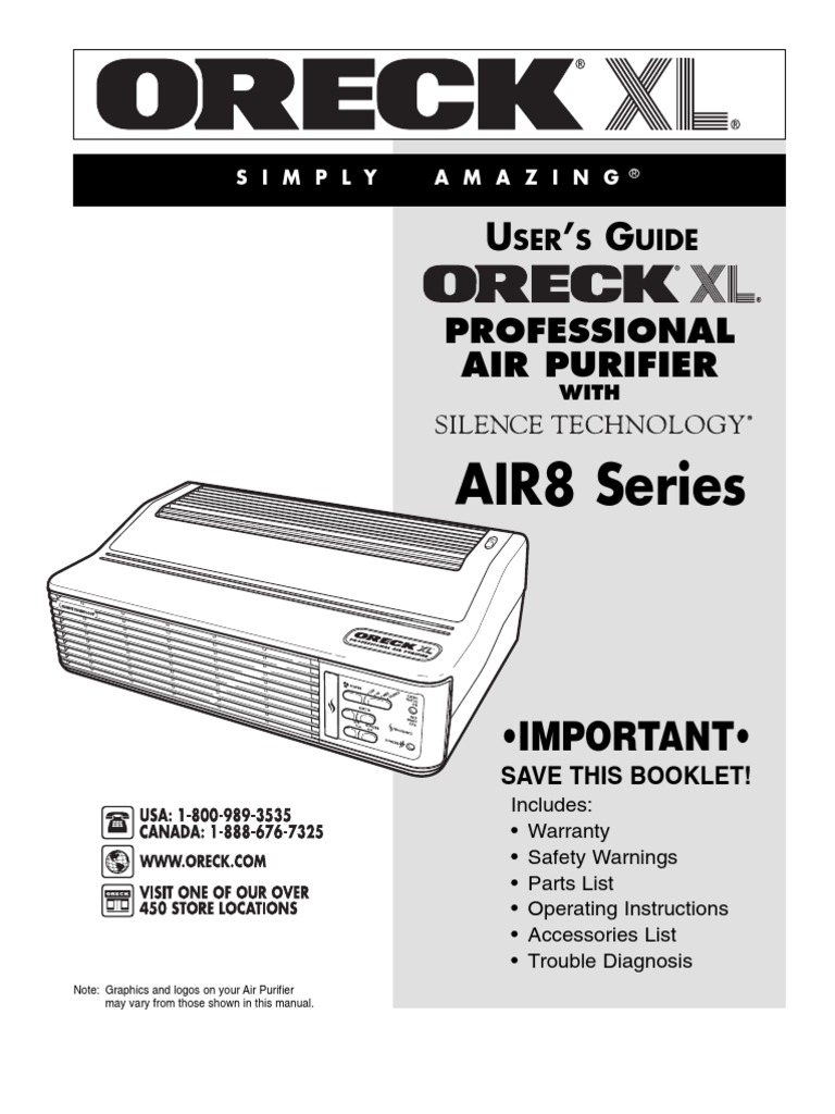 oreck xl professional air purifier w/ silence technology manual | ac power  plugs and sockets | odor