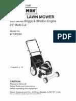 Craftsman Rotary Lawn Mower Manual