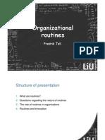 Organization Routines
