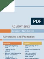 Advertising Sem a Exam Overview