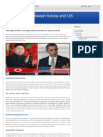 The Saga of Political Conflict of Korea and US