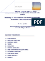 EMTP RV Modelling