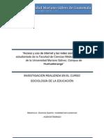 Investigacion Sociologia de La Educacion