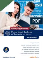 Informator 2013 - Studia Podyplomowe - Wyższa Szkoła Bankowa we Wrocławiu