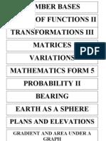 Math Form 5 File