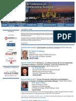 PHARMA 2013 Pharmaceutical Sciences and Pharmacology