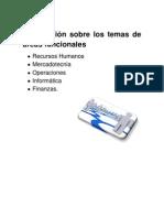 Información sobre los temas de áreas funcionales
