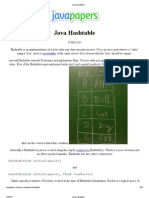 Java Hashtable