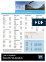 Pricelist Charter Helicopter